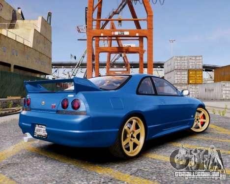 Nissan Skyline R33 GTR V-Spec para GTA 4 esquerda vista