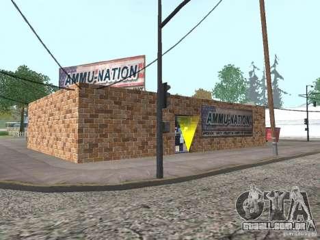 Aldeia de Angel Pine modificada para GTA San Andreas por diante tela