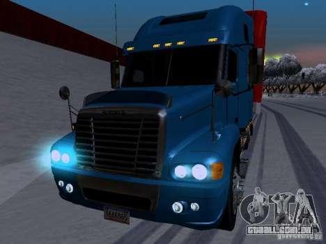 Freightliner Century para GTA San Andreas vista interior