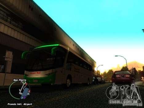 Bus Kramat Djati para GTA San Andreas esquerda vista