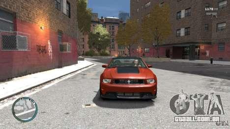 Ford Mustang Boss 302 2012 para GTA 4 vista de volta