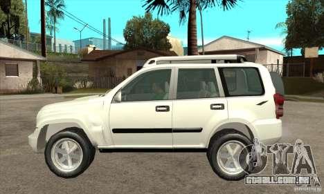 Jeep Liberty 2007 para GTA San Andreas esquerda vista