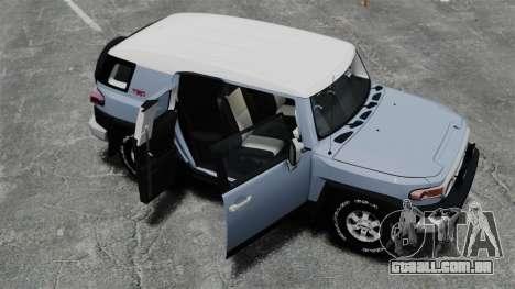 Toyota FJ Cruiser para GTA 4 vista superior