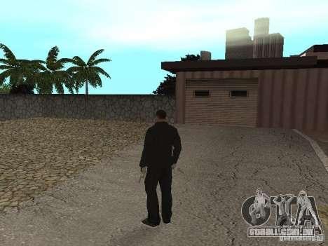CJ Mafia Skin para GTA San Andreas por diante tela