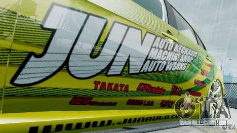 Mitsubishi Lancer X JUN para GTA 4 vista de volta