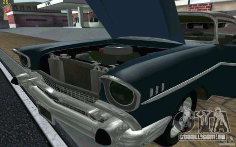 Chevrolet Bel Air 1957 para GTA San Andreas vista interior