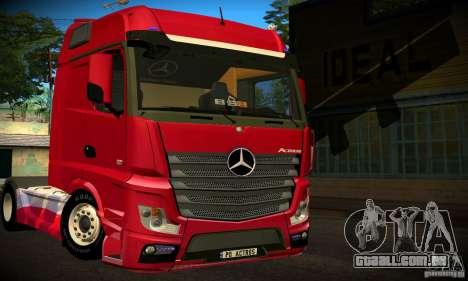 Mercedes-Benz Actros 2012 para GTA San Andreas traseira esquerda vista