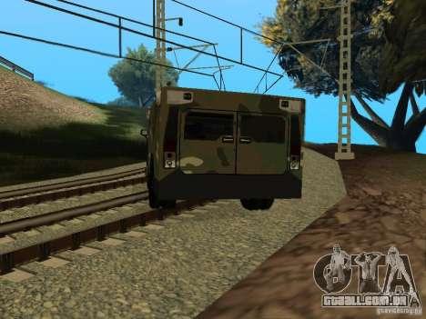 Hummer H2 Army para GTA San Andreas esquerda vista