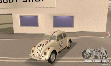 Volkswagen Beetle 1963 para vista lateral GTA San Andreas