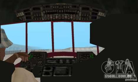 MI-17 civis (inglês) para GTA San Andreas vista traseira