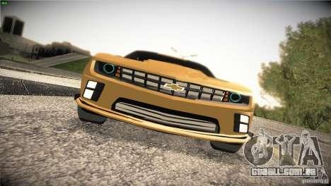 Chevrolet Camaro SS Transformers 3 para GTA San Andreas vista interior