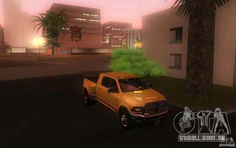 Dodge Ram 3500 Laramie 2010 para GTA San Andreas vista traseira