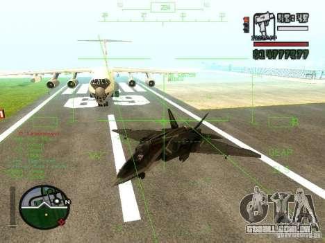 Xa-20 razorback para GTA San Andreas traseira esquerda vista