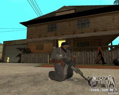 AK47 com a mira óptica padrão para GTA San Andreas segunda tela