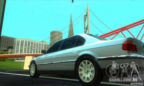 BMW 750i E38 para GTA San Andreas esquerda vista