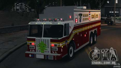 FDNY Rescue 1 [ELS] para GTA 4 vista lateral