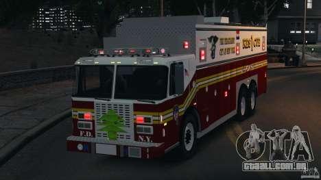 FDNY Rescue 1 [ELS] para GTA 4 vista lateral