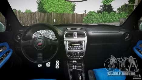 Subaru Impreza v2 para GTA 4 vista interior