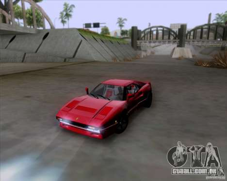 Ferrari 288 GTO para GTA San Andreas esquerda vista