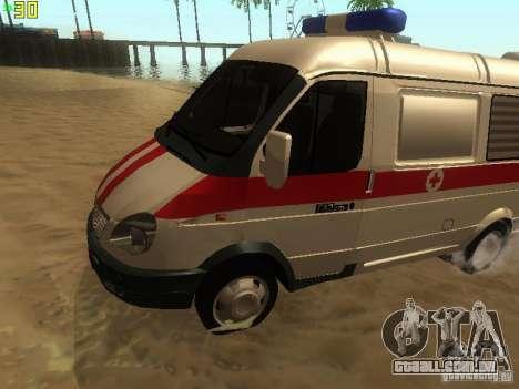 Ambulância de gazela 32214 para GTA San Andreas esquerda vista