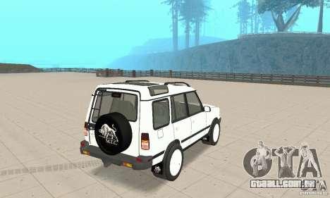 Land Rover Discovery 2 para GTA San Andreas esquerda vista