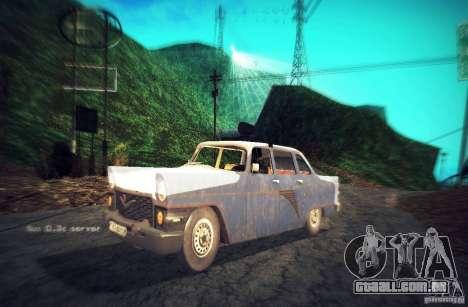 Polícia gás 13 Cuba para GTA San Andreas vista traseira