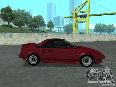 Toyota MR2 para GTA San Andreas traseira esquerda vista