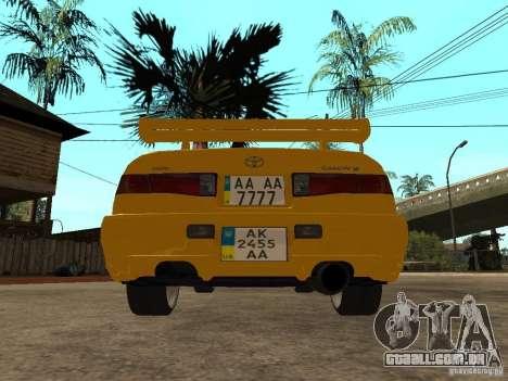 Toyota Camry TAXI para GTA San Andreas traseira esquerda vista