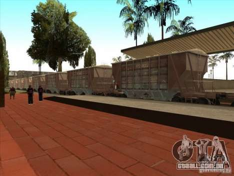 Vagões para GTA San Andreas vista traseira