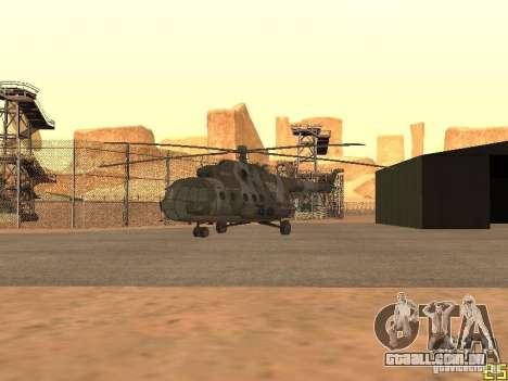 MI 17 para GTA San Andreas vista traseira
