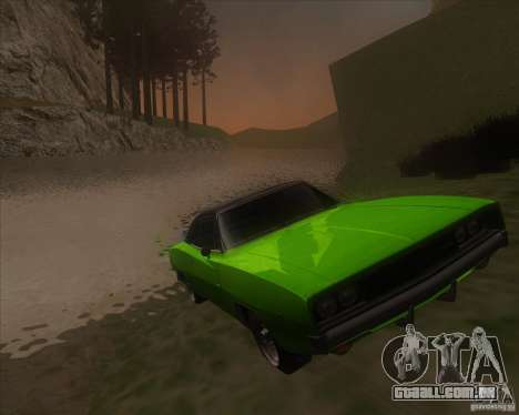 Dodge Charger RT 1968 para GTA San Andreas vista traseira