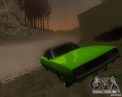Dodge Charger RT 1968 para GTA San Andreas vista traseira