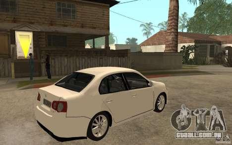 Volkswagen Jetta 2008 para GTA San Andreas vista direita