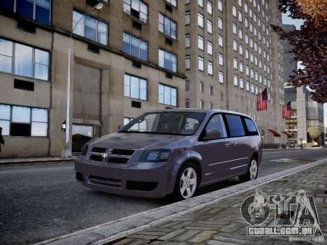 Dodge Grand Caravan SXT 2008 para GTA 4 traseira esquerda vista