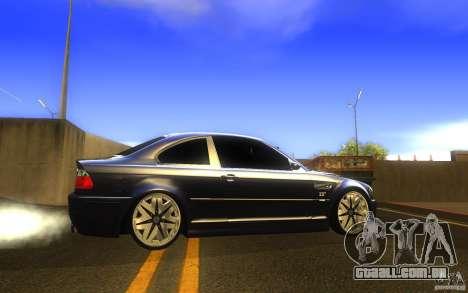 BMW M3 E46 V.I.P para GTA San Andreas esquerda vista