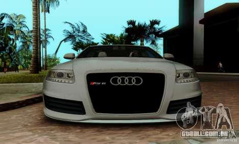 Audi RS6 2009 para GTA San Andreas vista superior
