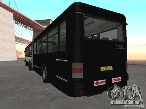 Autocarros 6222 para GTA San Andreas vista traseira