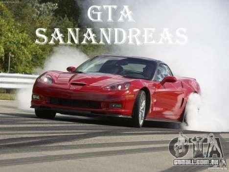 Carregamento telas Chevrolet Corvette para GTA San Andreas por diante tela