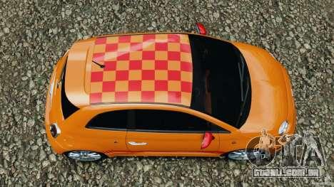 Fiat 500 Abarth para GTA 4 vista direita