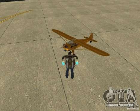 Transporte aéreo de Pak para GTA San Andreas traseira esquerda vista