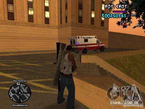 HUD by Hot Shot para GTA San Andreas por diante tela