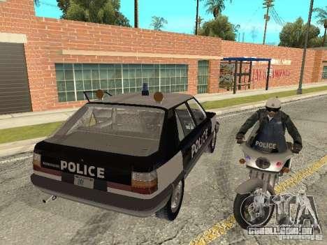 Renault 11 Police para GTA San Andreas esquerda vista