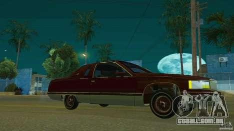 Cadillac Fleetwood 1993 para GTA San Andreas vista direita