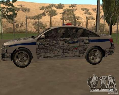 Audi RS6 2010 DPS para GTA San Andreas interior
