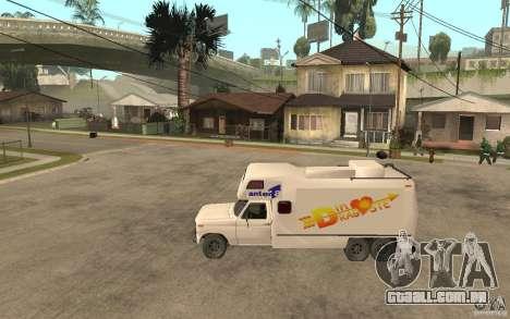 Ford F150 Carvana Dragostei para GTA San Andreas esquerda vista