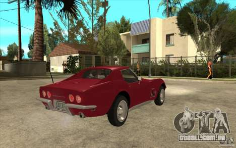 Chevrolet Corvette Stingray para GTA San Andreas vista direita
