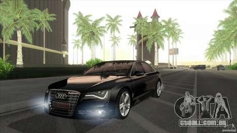 Audi S8 2012 para GTA San Andreas vista direita