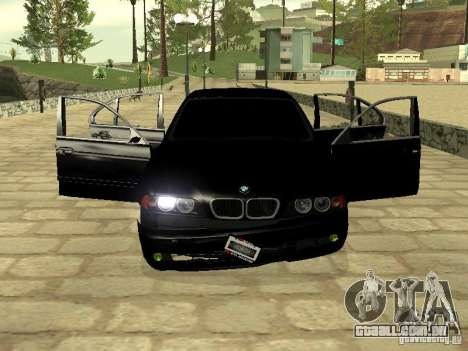 BMW M5 para GTA San Andreas vista superior