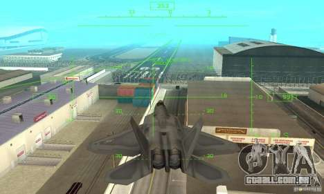 F-22 Grey para GTA San Andreas vista inferior