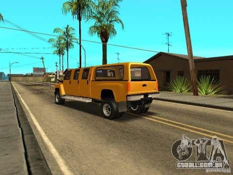GMC TopKick para GTA San Andreas traseira esquerda vista